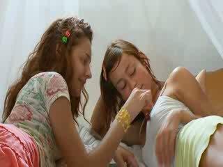 Lesbos love 69 and big Dildos