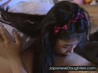 ung, japansk, grov, dotter