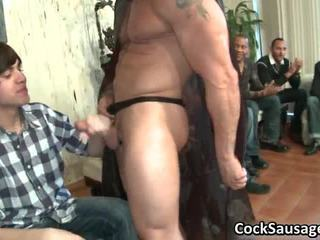 Large Gay Cock Party