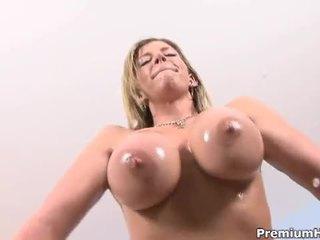 Sara jay oils up big booty for interracial fucking