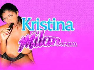 Kristina Milan With Huge Dildo
