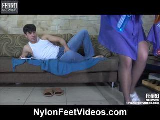 überprüfen fuß-fetisch beobachten, strumpf sex, spaß nylons feet