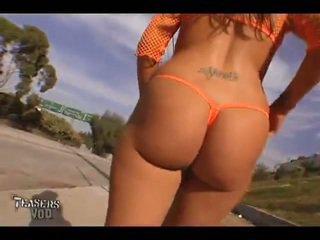 Britney 公 see-through transparent 丁字裤