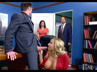 Big Tit Blonde Tits at Work, Free Brazzers Network HD Porn
