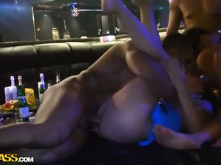 Student party group sex in the bar Video