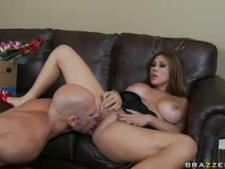 Lusty shaved Kianna Dior spreads slits for one awesome fuck with her lover