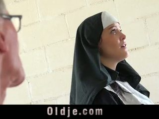 Old man makes young monastery nun fornicate