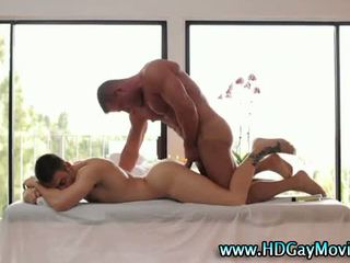 Passionate lovers anal gay rimming