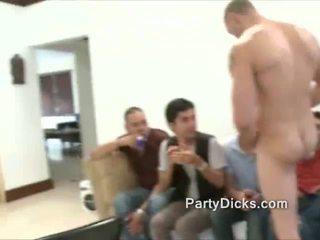 Happy b-ys suck big stripper cock