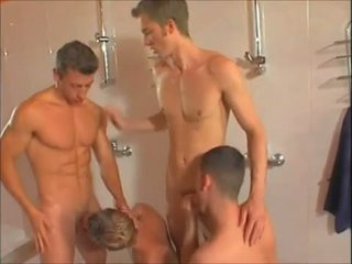 Hot gay showers orgy