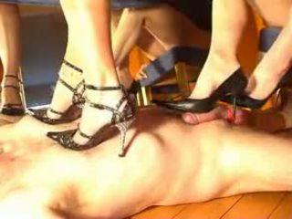 Double Mistress Footjob Training