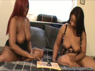Nilou Achtland & Eve Lesbian Checker Game: Free Porn 8c