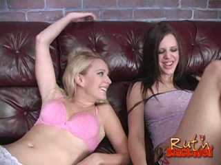 Erin Moore sharing her guys dick with Deja Dare