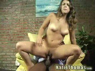 Katie gets slammed by a black guy