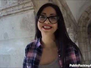 Julia De Lucia Received Cum On Glasses After Hard Fucking