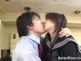 japanese, uniform, teen, handjob