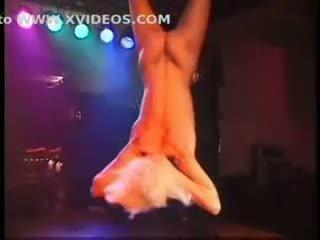 Fetish club punishment on stage of blonde slavegirl in bonda
