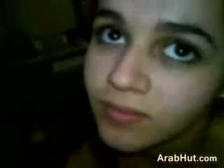 Arab Teen Girl Sucking Her Boyfriends Cock