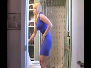 Blonde öffentliche Toilette Piss