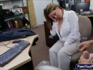 Foxy Business Lady Sells Her Watch And Fucked By Pawnkeeper