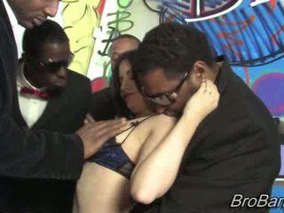 Tatianna Kush gets bukkaked by ten blacks