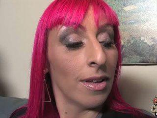 Redhead MILF Raven Black gets gangbanged by big co
