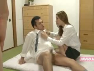 real japanese hq, blowjob, great threesome hot