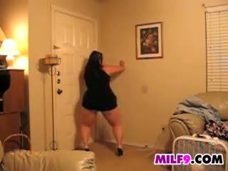 Fat Woman Dances And Teases Her Ass