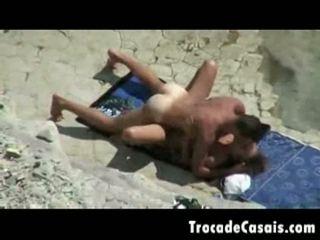 Couple make sex on a nudism beach amador casal transando n