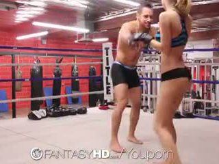 Hd fantasyhd - natalia starr wrestles her way into fuck session