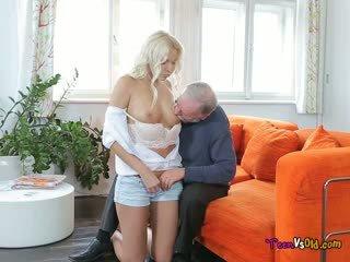 old man licking big boobs