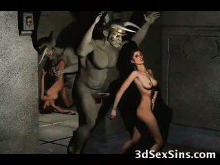 3d demons jāšanās karstās babes!