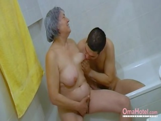 Omahotel Hairy Grandma and Lusty Couple Threesome: Porn 66