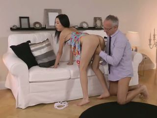 Old Man and a Sexy Asian Girl, Free Hardcore HD Porn c8
