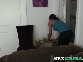 Fucking my dirty ebony maid Anya Ivy