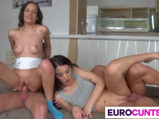 Tryst with Two Hot Euro Babes, Free Hot Babes HD Porn 4c