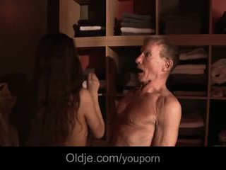 Shameless horny girl seduces and fucks married old man