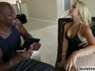 Sarah Vandella Blows A Huge Ebony Cock