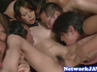 Orally Pleasured Asian MILF Enjoys Threeway: Free Porn 3c