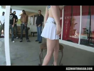Perky Brunette Tatiana Kush Gets In On The Action When A Few Hung Studs Arrive