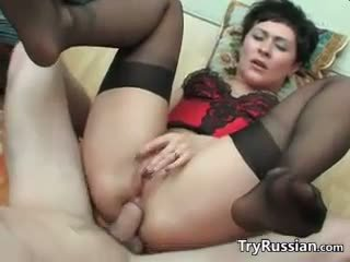 Dirty Russian Mother Wants Anal