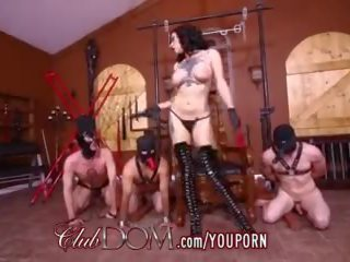 Clubdom Goddess Gets Off Then Ass Fucks Her Slaves