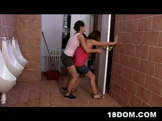 riding, threesome, toilet