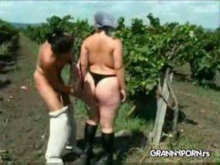check granny, full punished, farmer