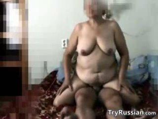big boobs, granny, russian
