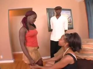 Black mother watches NOT her daughter get assfucked