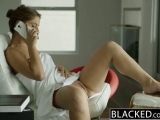 Blacked california момиче presley hart worships огромен черни чеп