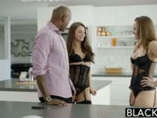 BLACKED Dani Daniels And Allie Haze Interracial Threesome