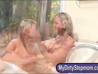 Brandi Love and Mia Malkova horny 3some in the bedroom