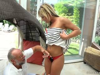 Grandpa Cumming Right to Angelina Julie, Porn fd